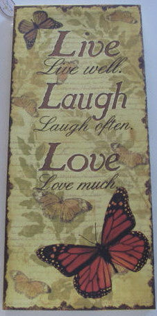 Canvas Print - Live, Laugh, Love