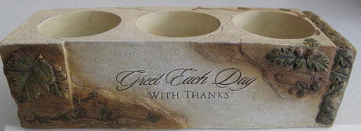 """Greet Each Day"" Tealight Candleholder"
