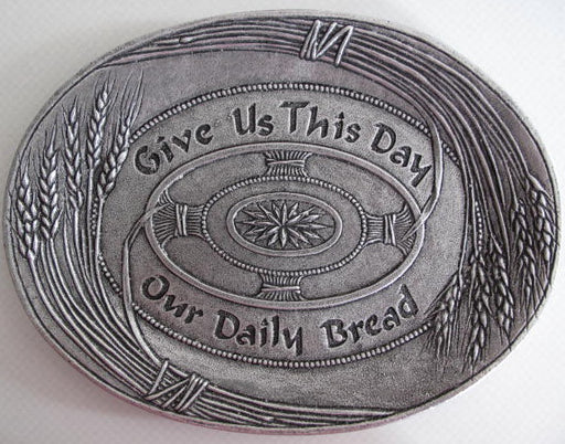 """Give Us This Day"" Pewter Tray - Catholic Gifts Canada"