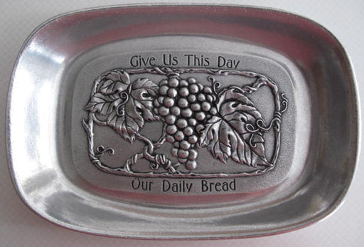 Daily Bread Pewter Tray - Catholic Gifts Canada