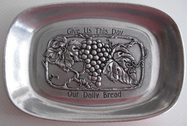 Daily Bread Pewter Tray