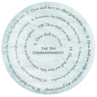 Ten Commandments Glass Paperweight