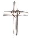 Barbed Wire Heart Cross