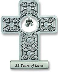 25th Anniversary Tabletop Cross - Catholic Gifts Canada