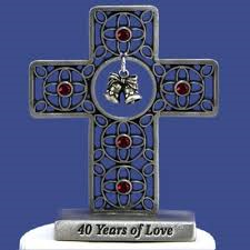 40th Anniversary Tabletop Cross - Catholic Gifts Canada