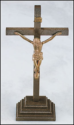 Moulded Crucifix for Wall or Tabletop