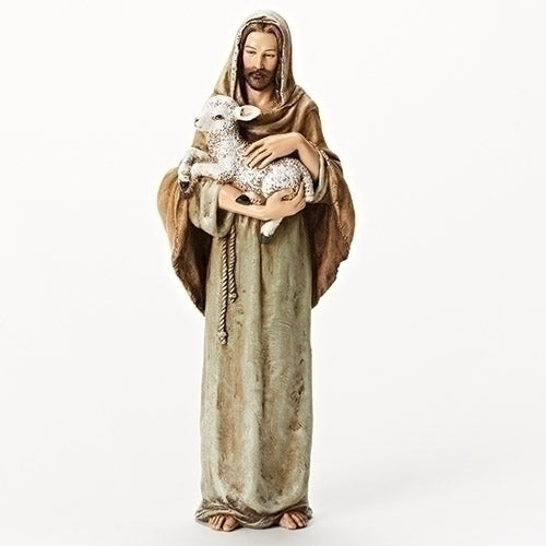 Jesus with Lamb Statue