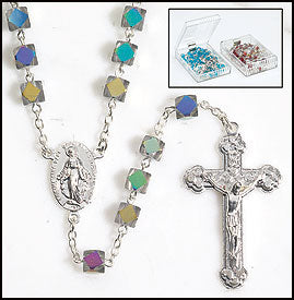 Crystal Faceted Rosary - Catholic Gifts Canada