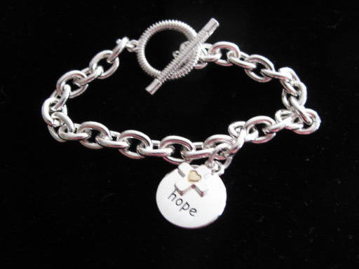 Disc & Cross Charm Bracelet - Hope - Catholic Gifts Canada