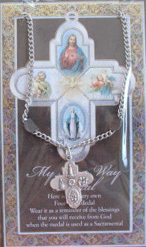 4-Way Medal on Chain with Prayer Card