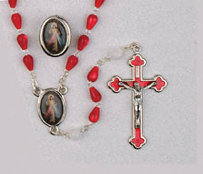 Divine Mercy Rosary & Lapel Pin Set