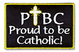 Proud to be Catholic Applique