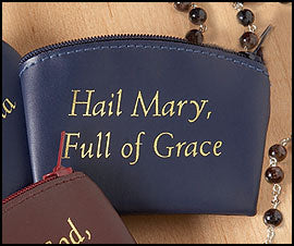 Hail Mary Zippered Rosary Case