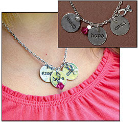 Breast Cancer Strength Necklace