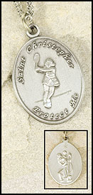 St. Christopher Tennis Pendant for Girls