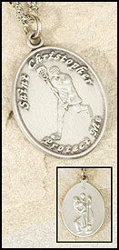 Girl's St. Christopher Lacrosse Pendant