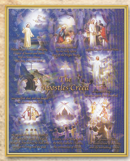 Illustrated Apostles Creed Plaque