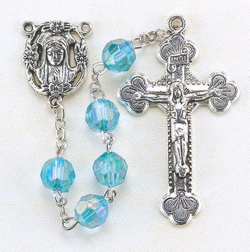 Birthstone Rosary for March