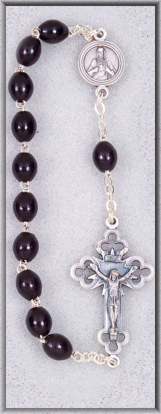 Single Decade Black Rosary