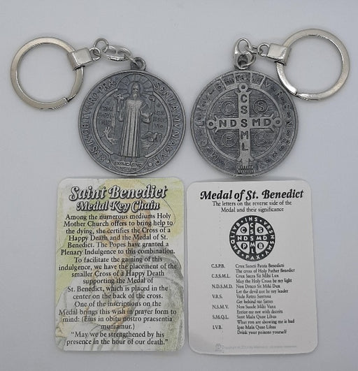 Saint Benedict Medal Key Chain - Catholic Gifts Canada