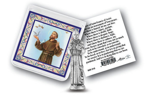 St. Francis Pocket Statue & Card - Catholic Gifts Canada