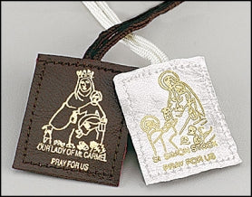 Brown Leather Scapular