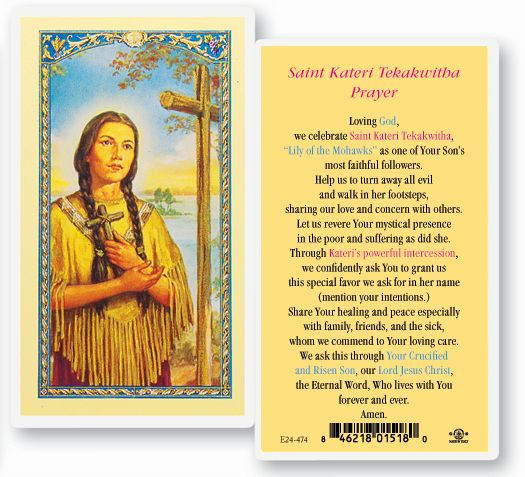 St. Kateri Prayer Card
