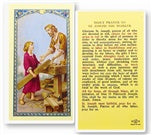 Prayer Card for St. Joseph the Worker - Catholic Gifts Canada