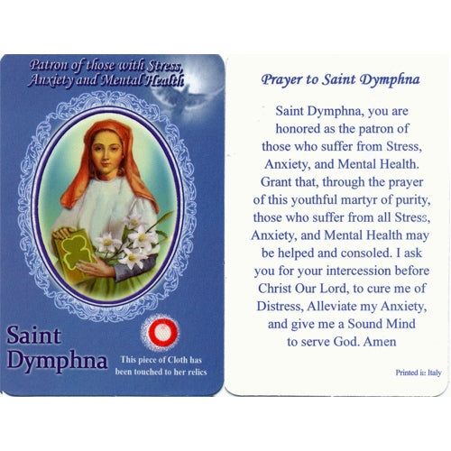 St. Dymphna Relic Card