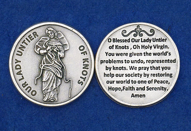 Our Lady Untier of Knots Pocket Token