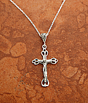 Sterling Cut-Out Crucifix Pendant