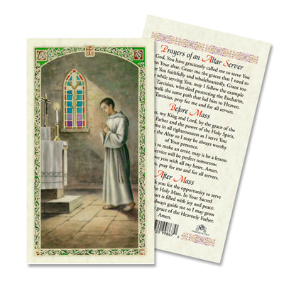 Altar Server Laminated Prayer Card