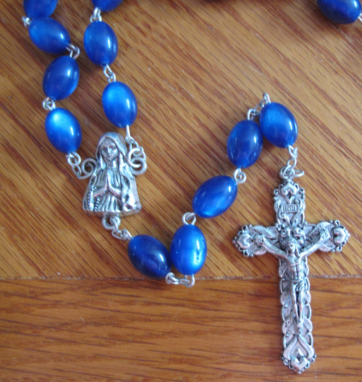Large Blue Bead Rosary