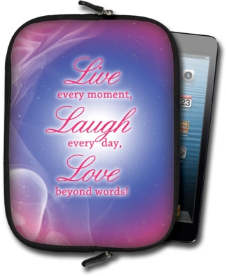 Small Tablet Sleeve - Live, Laugh, Love