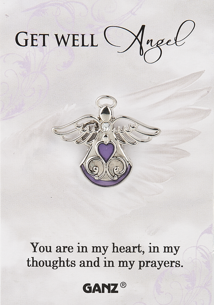 Get Well Angel Pin/Pendant - Catholic Gifts Canada