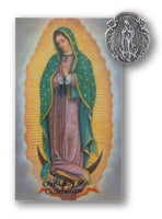 Our Lady of Guadalupe Pin & Prayer Card