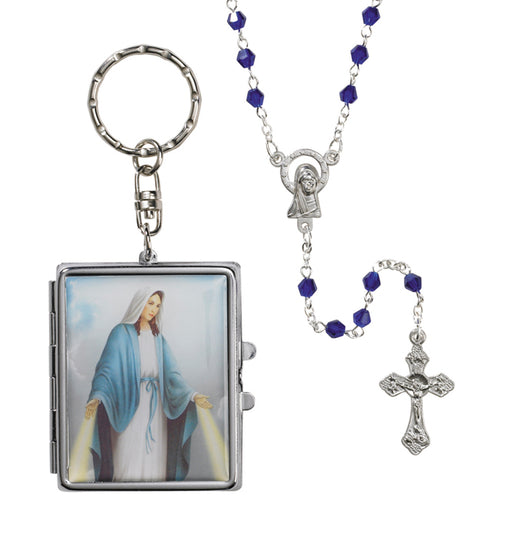 Our Lady of Grace Key Chain & Rosary