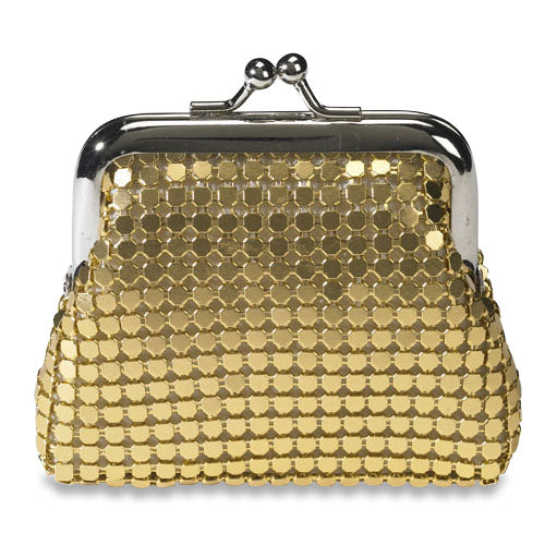 Gold Mesh Rosary Case
