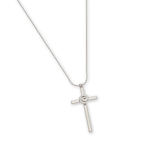 Cross Pendant with Swirl Centre