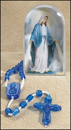 Our Lady of Grace Cord Rosary & Case