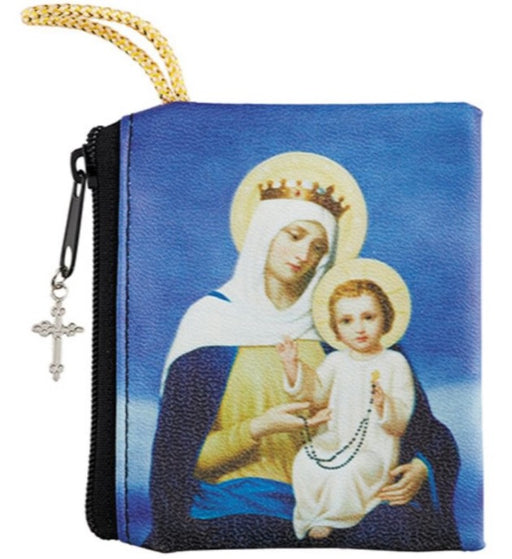 Our Lady of the Rosary Zipper Case - Catholic Gifts Canada