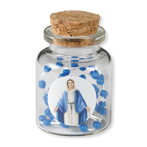 Our Lady of Grace Bottle w/Cord Rosary