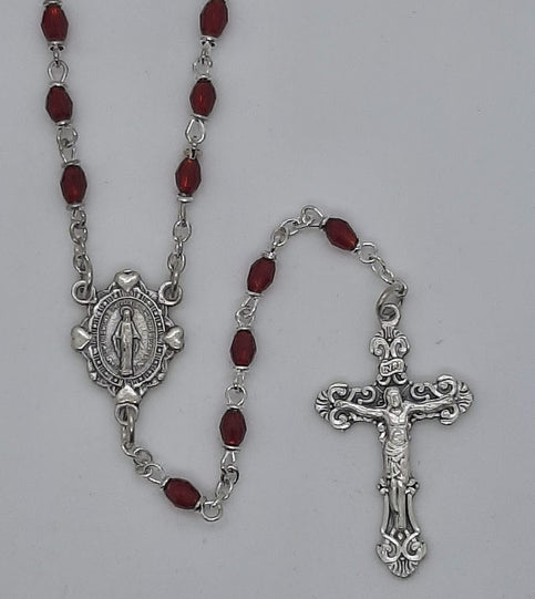 Ruby Crystal Rosary from Creed