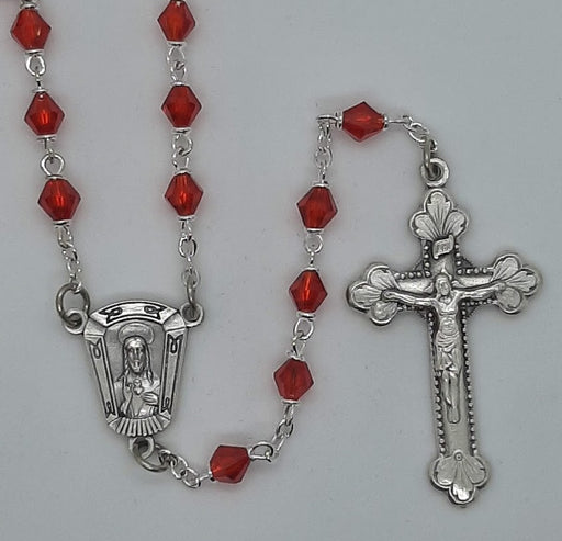 Diamond-Shaped Ruby Rosary from Creed