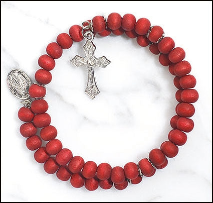 Scented Wrap Style Rosary Bracelet