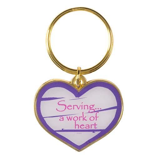 Serving is a Work of Heart Key Chain
