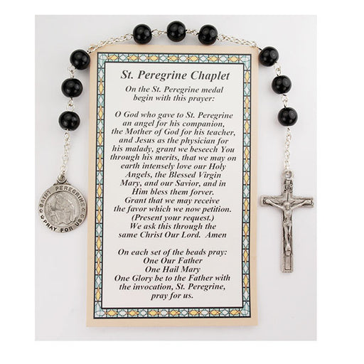 St. Peregrine Chaplet and Prayer Card