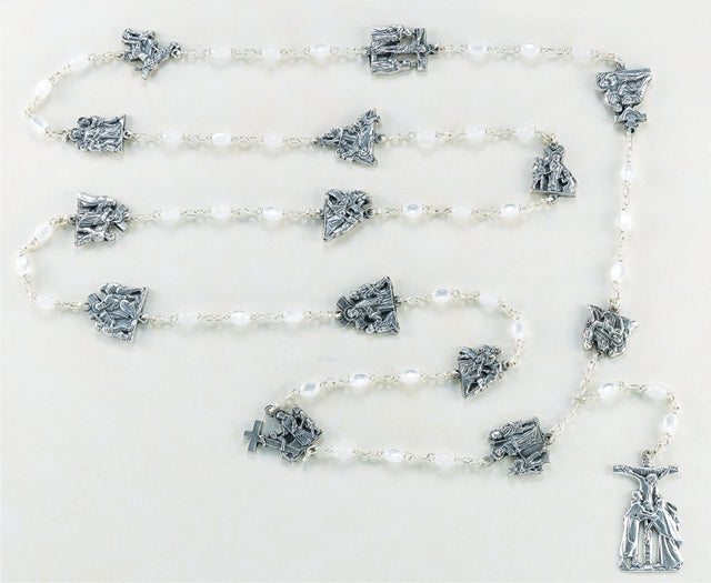 White Stations of the Cross Rosary