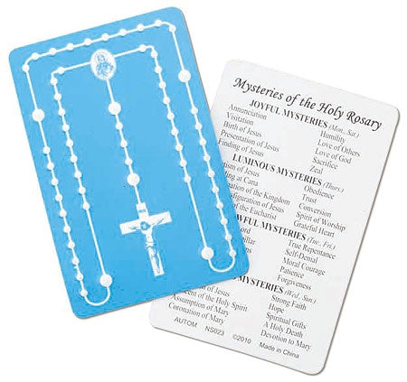 Mysteries of the Rosary Embossed Card - Catholic Gifts Canada