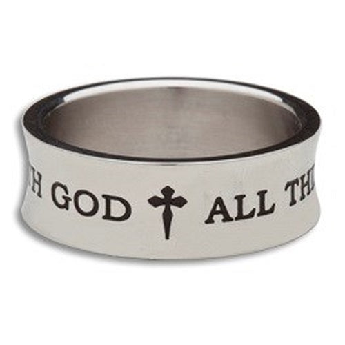 All Things - Stainless Steel Men's Ring